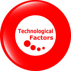 technological factors web button, icon isolated on white