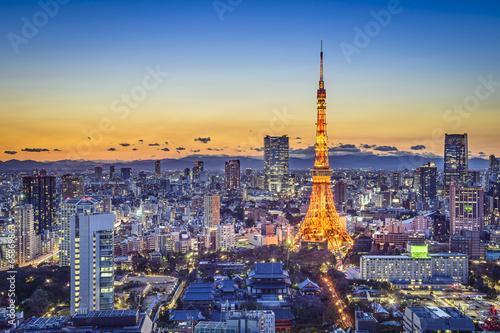 Plexiglas Tokyo Tokyo Japan City Skyline