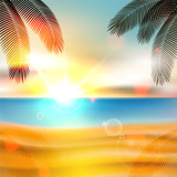Fototapety Summer beach background - vector