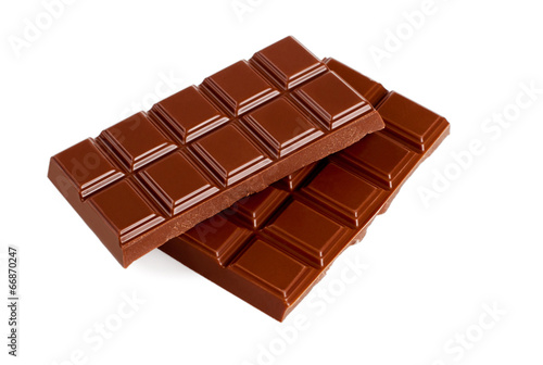 Chocolate on white background. Candy. Collection. - 66870247