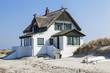 canvas print picture - Ferienhaus am Strand der Ostsee in Heiligenhafen,Schleswig-Holst