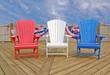 patriotic Adirondack chairs - 66870881