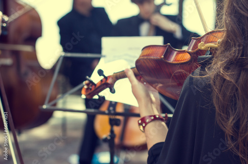 Classical music concert outdoors. - 66871051