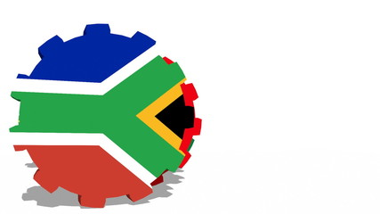 brics members flags on rolling gears
