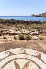 ruins of roman house in the coast of Peloponnese