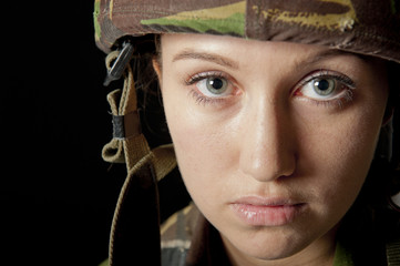 Shell Shocked Female Soldier