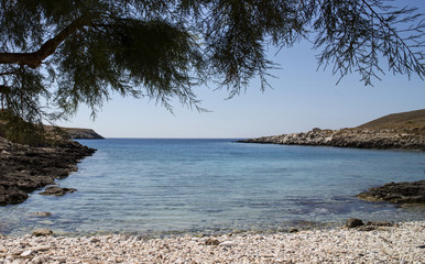 solitary beach in the peloponnese