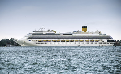 Large passenger cruise ship
