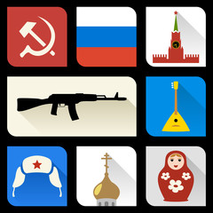 Russian flat icons
