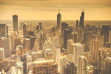 fototapeta Chicago Skyline Aerial View