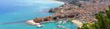 Vue aérienne de Castellammare del Golfo en Sicile