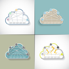 Four templates in a cloud