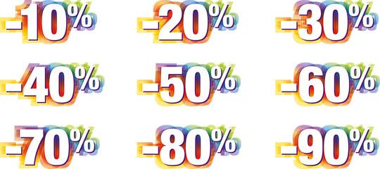chiffres pourcentage pour fond blanc kazy