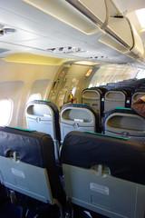 Intérieur d'un avion de ligne