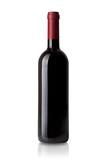 Rotwein Flasche isoliert auf weißem Hintergrund