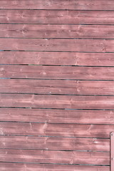 reddish painted planks