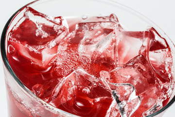 Iced  juice close-up
