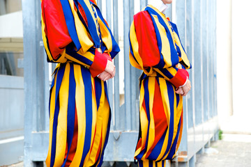 Swiss Vatican guards, Rome, Italy