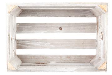 Empty vintage wooden crate