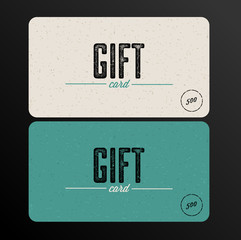 Retro Gift card teal template