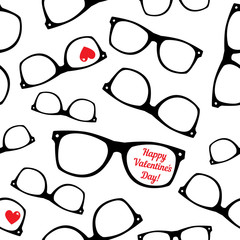 Hipster symbols. Valentine's Day background.