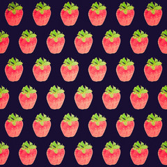 Retro look Strawberry background