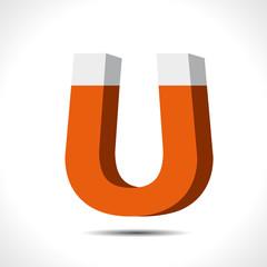 Magnet Symbol icon. Electromagnetism symbol