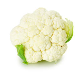 fresh cauliflower isolated on the white background