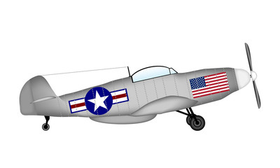 American fighter P-51 Mustang