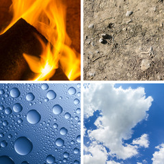 Four Elements Air Fire Water Earth