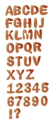 Decorative alphabet uppercase set in hatch design