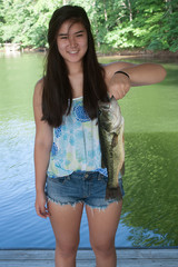 Girl Holding a Largemouth Bass