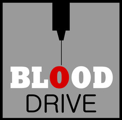 blood drive graphic design with needle