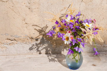 still life bouquet with wild flowers