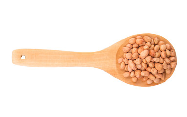 Peanut On Wooden Spoon