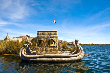 Uros - Floating Islands, Titicaca lake, Peru-Bolivia