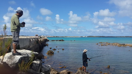 Locals fishing in bermuda