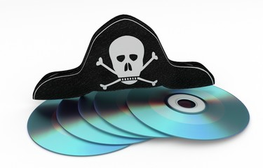 stealing cd - Data piracy concept