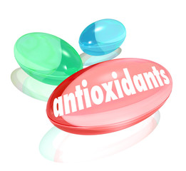 Antioxidants Capsules Pills Nutritional Supplements Healthy Life