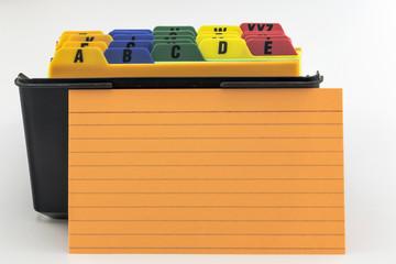Name Filer with Blank Orange Card