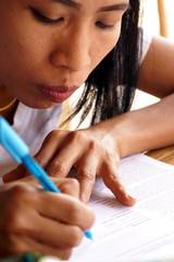 Writing Lady