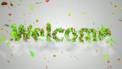Welcome leaves particles Loop Animation