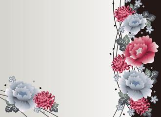 菊と牡丹の背景