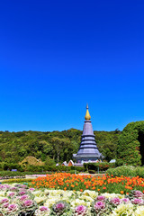 Pagoda at Doi Inthanon in Chiangmai province of Thailand