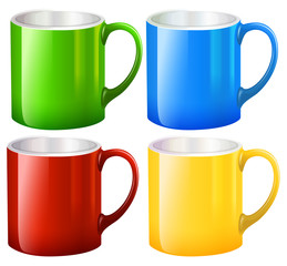 Sets of big mugs