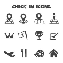 check in icons