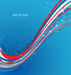 vector illustration 4th of july american independence day wave c