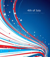 Vector 4th of july american independence day flag celebration li