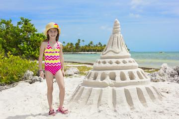 Giant Sandcastle on a tropical beach