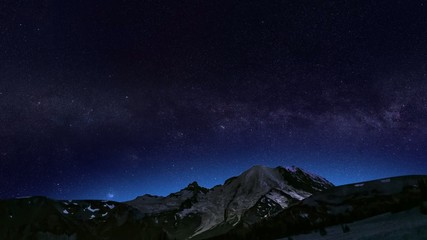 Time Lapse Night Horizon Panorama